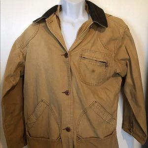 LLBean Womens Medium tan chore Barn coat jacket